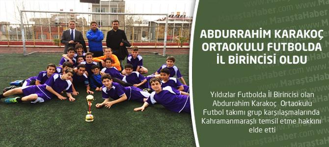 Abdurrahim Karakoç Ortaokulu Futbolda Şampiyon