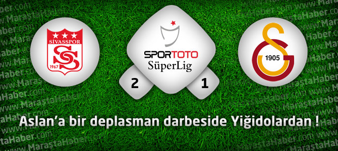 Sivasspor 2 – Galatasaray 1 Maçın özeti ve golleri