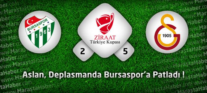 Bursaspor 2 – Galatasaray 5 Maç özeti ve goller