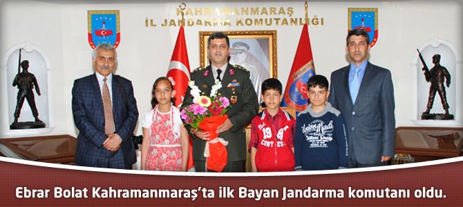 Ebrar Bolat Kahramanmaraş'ta ilk Bayan Jandarma komutanı oldu.