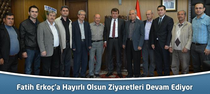 Kahramanmaraş Büyükşehir Belediye Başkanı Erkoç'a Hayırlı Olsun Ziyaretleri Devam Ediyor