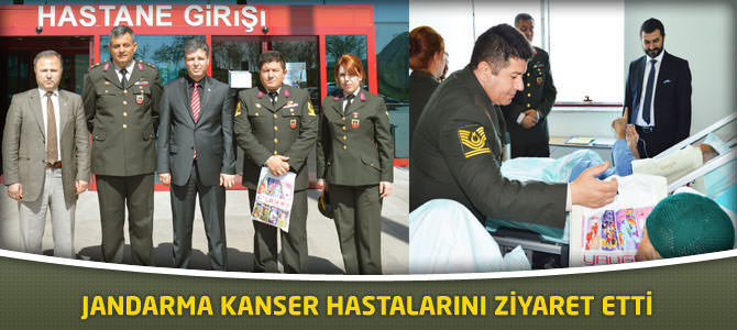 Jandarma Kanser Hastalarını Ziyaret Etti