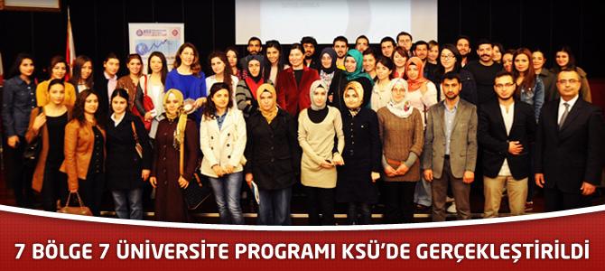 7 Bölge 7 Üniversite Programı KSÜ'de Gerçekleştirildi