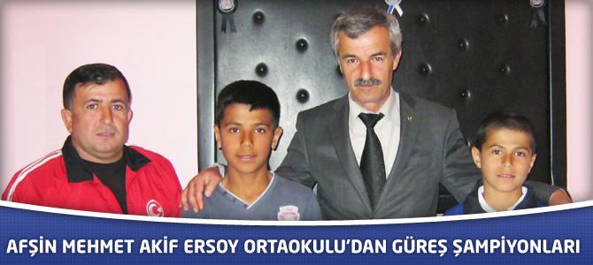 Afşin Mehmet Akif Ersoy Ortaokulu Şampiyon Çıkarmaya Devam Ediyor.