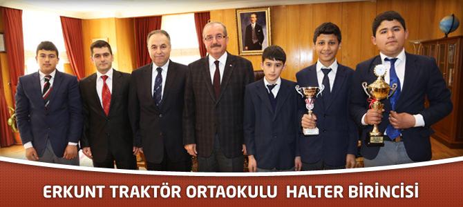 Halter Şampiyonası'nda Erkunt Traktör Ortaokulu Kahramanmaraş'ı Temsil Edecek