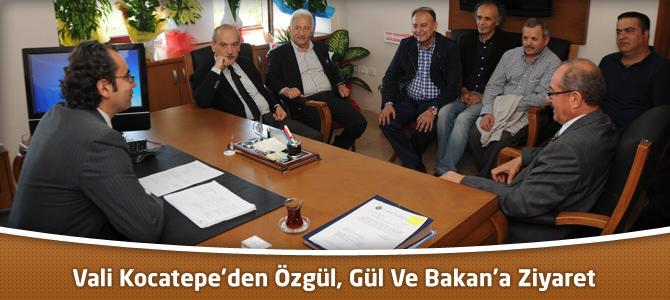 Vali Kocatepe'den KSÜ'de Özgül, Gül Ve Bakan'a Ziyaret
