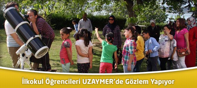 İlkokul Öğrencileri Çukurova Üniversitesi UZAYMER'de Gözlem Yapıyor
