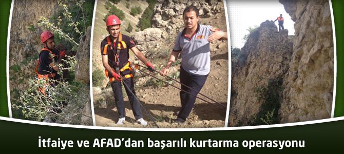 İtfaiye ve AFAD'dan başarılı kurtarma operasyonu