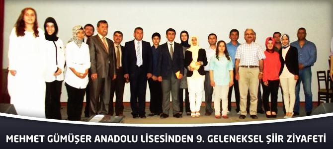 Mehmet Gümüşer Anadolu Lisesinden 9. Geleneksel Şiir Ziyafeti