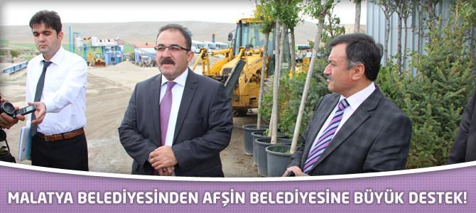 Malatya Belediyesinden Afşin Belediyesine Büyük Destek!