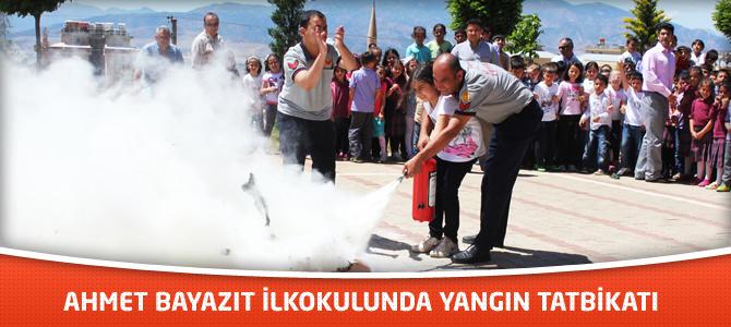 Ahmet Bayazıt İlkokulunda Yangın Tatbikatı