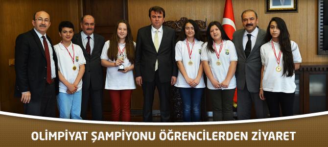 Olimpiyat Şampiyonu Öğrencilerden Ziyaret