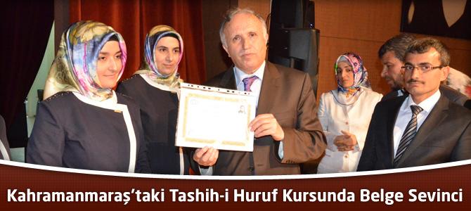 Kahramanmaraş'taki Tashih-i Huruf Kursunda Belge Sevinci