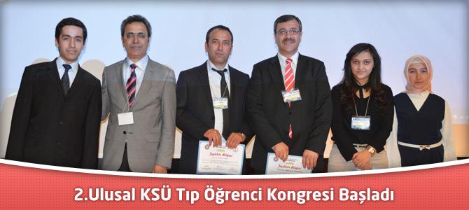 2.Ulusal KSÜ Tıp Öğrenci Kongresi Başladı