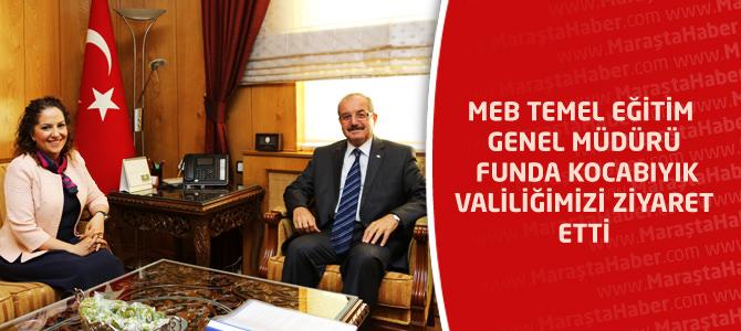 MEB Temel Eğitim Genel Müdürü Funda Kocabıyık Valiliğimizi Ziyaret Etti