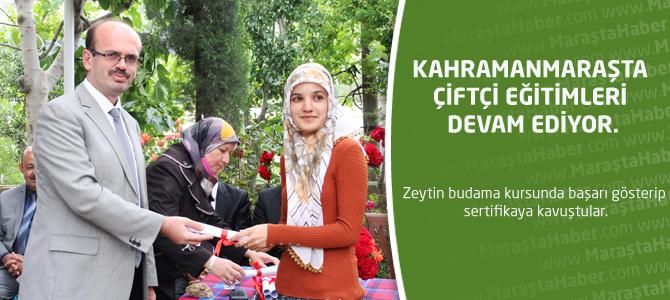 Kahramanmaraş'ta çiftçi eğitimleri devam ediyor.