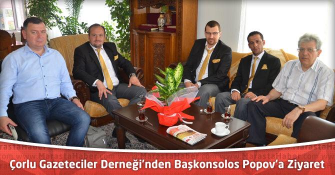 Çorlu Gazeteciler Derneği'nden Başkonsolos Lubomir Popov'a Ziyaret