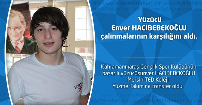 Yüzücü Enver HACIBEBEKOĞLU çalışmalarının karşılığını aldı.