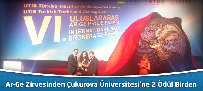 Uluslararası Ar-Ge Zirvesinden Çukurova Üniversitesi'ne 2 Ödül Birden