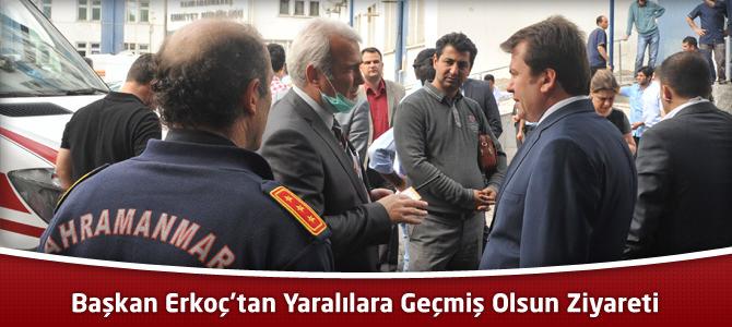 Başkan Erkoç'tan Patlamada Yaralananlara Geçmiş Olsun Ziyareti