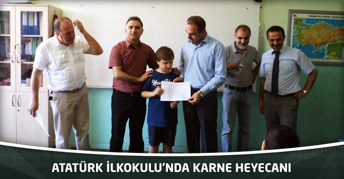 Atatürk İlkokulunda Karne Heyecanı