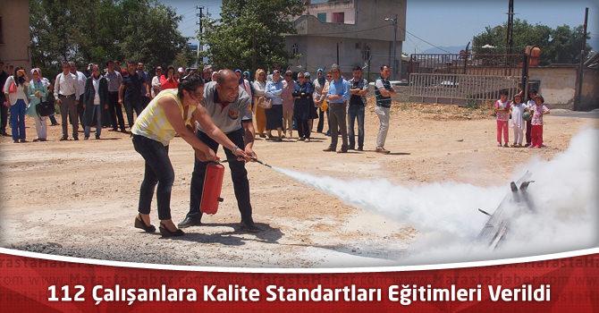112 Çalışanlara Kalite Standartları Eğitimleri Verildi
