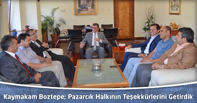 Pazarcık Kaymakamı Boztepe ve Belediye Başkanı Bozdağ KSÜ'yü Ziyaret Etti