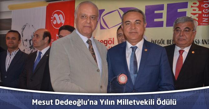 Mesut Dedeoğlu'na Yılın Milletvekili Ödülü