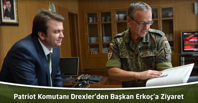 Patriot Komutanı Drexler'den Başkan Erkoç'a Ziyaret