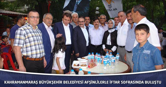 Kahramanmaraş Büyükşehir Belediyesi Afşinlilerle İftar Sofrasında Buluştu