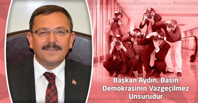 Başkan Aydın, Basın Demokrasinin Vazgeçilmez Unsurudur