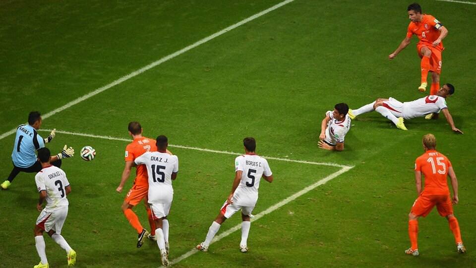 Dünya Kupası 2014-Hollanda Kosta Rika maç özeti ve goller (penaltı atışları)