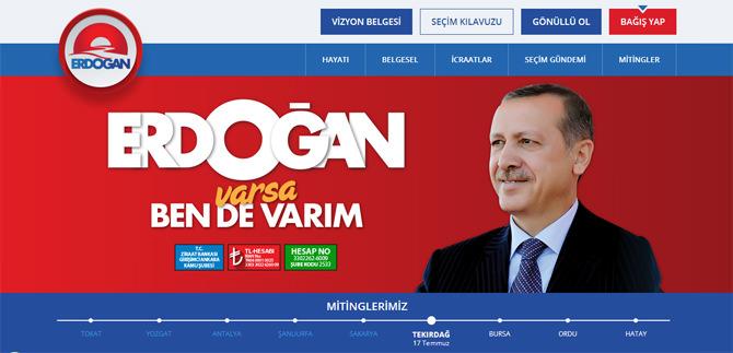 Recep Tayyip Erdoğan Resmi Web Sitesi Açıldı : rte.com.tr