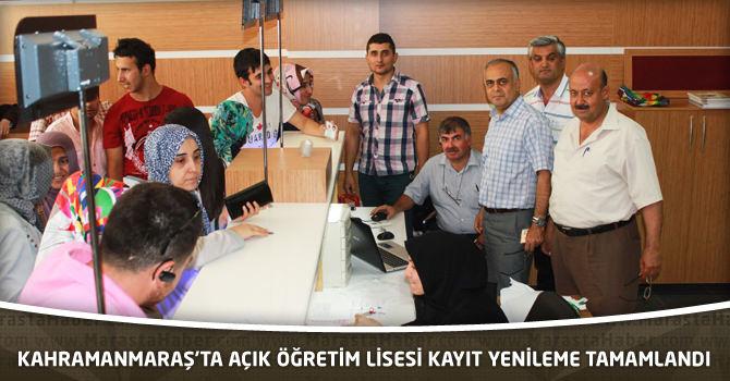 Kahramanmaraş'ta Açık Öğretim Lisesi Kayıt Yenileme Tamamlandı
