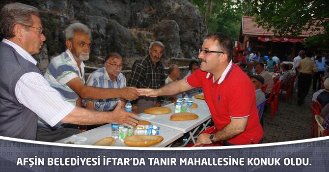 Afşin Belediyesi İftar'da Tanır Mahallesine Konuk Oldu.