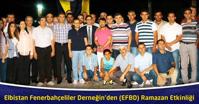 Elbistan Fenerbahçeliler Derneği (EFBD)'den Ramazan Birlikteliği