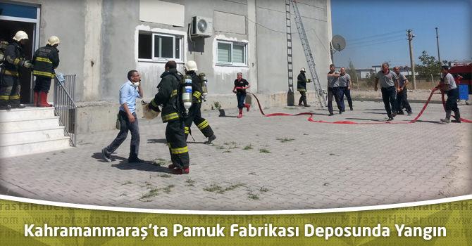 Kahramanmaraş'ta Pamuk Fabrikası Deposunda Yangın