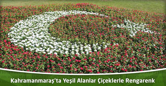 Kahramanmaraş'ta Yeşil Alanlar Çiçeklerle Rengarenk