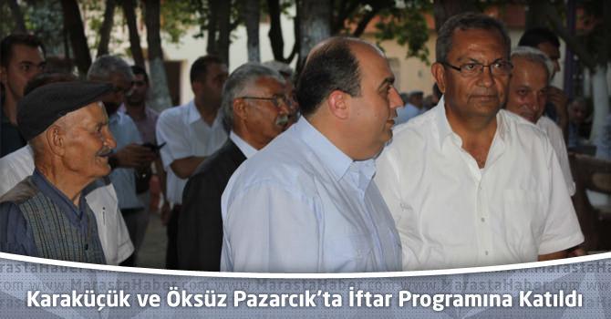 """Karaküçük ve Öksüz Pazarcık'ta """"Elif Ana"""" İftar Programına Katıldı"""