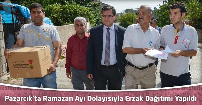 Pazarcık'ta Ramazan Ayı Dolayısıyla Erzak Dağıtımı Yapıldı