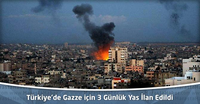 Türkiye'de Gazze için 3 Günlük Yas İlan Edildi