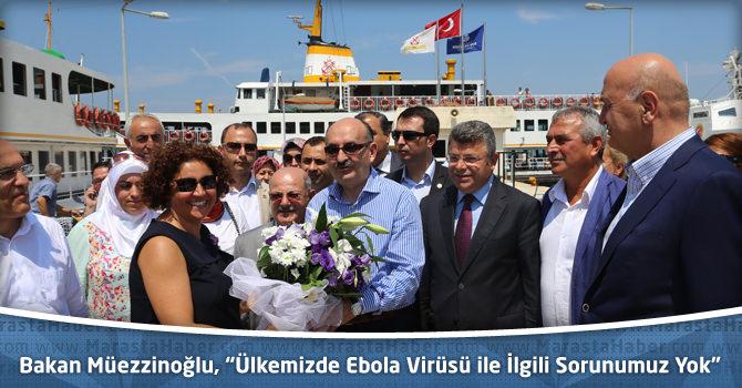 """Bakan Müezzinoğlu, """"Ülkemizde Ebola Virüsü ile İlgili Sorunumuz Yok"""""""