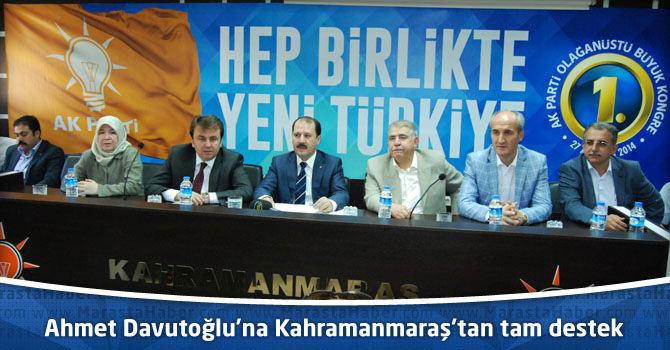 Başbakan Ahmet Davutoğlu'na Kahramanmaraş'tan tam destek