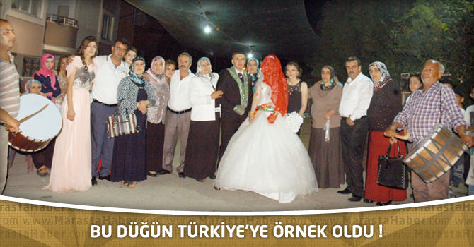 Bu Düğün Türkiye'ye Örnek Oldu