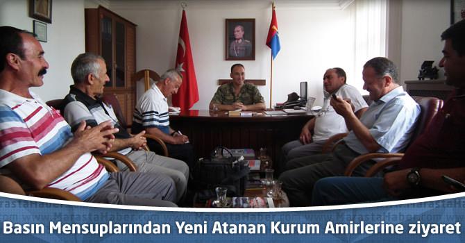 Basın Mensuplarından Yeni Atanan Kurum Amirlerine ziyaret.