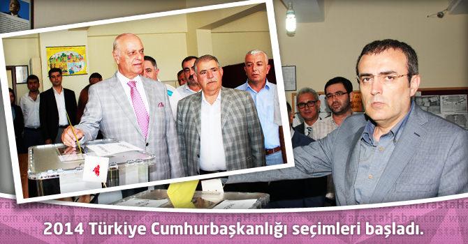 2014 Türkiye Cumhurbaşkanlığı seçimleri başladı.