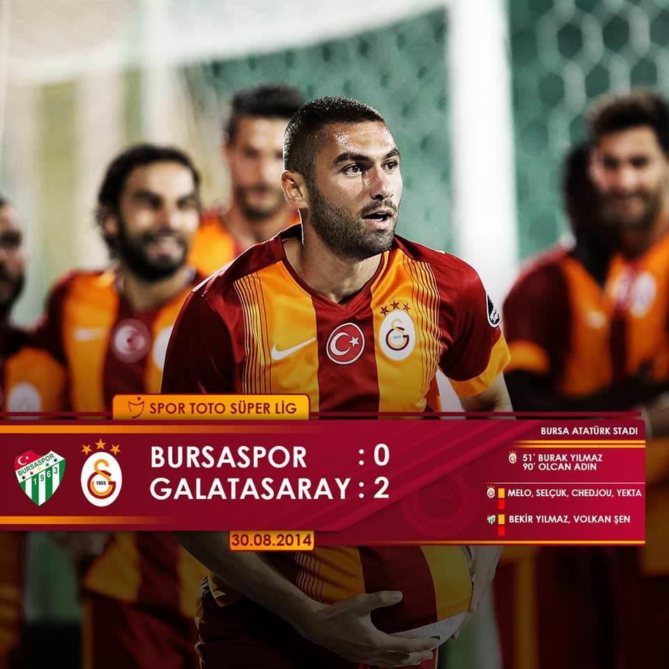 Bursaspor -Galatasaray : 0-2 Maçın özeti ve goller