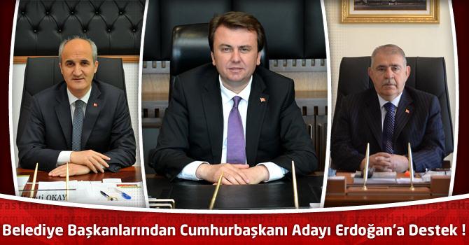 Belediye Başkanlarından Cumhurbaşkanı Adayı Erdoğan'a Destek !