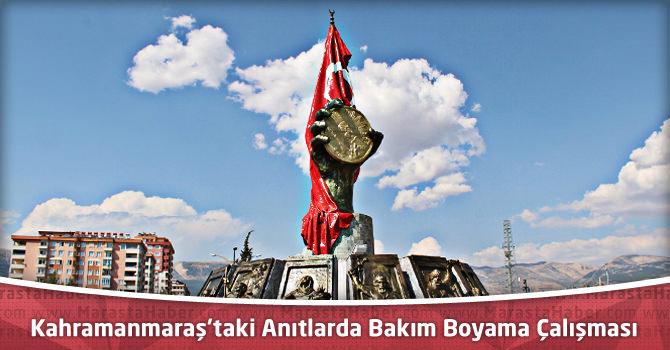 Kahramanmaraş'taki Anıtlarda Bakım Boyama Çalışması