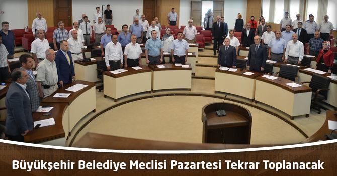 Kahramanmaraş Büyükşehir Belediye Meclisi Pazartesi Tekrar Toplanacak
